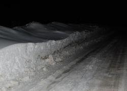 Kopa snehu v Tatrách