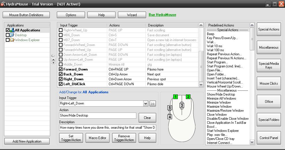 HydraMouse nastavenie pre remote station