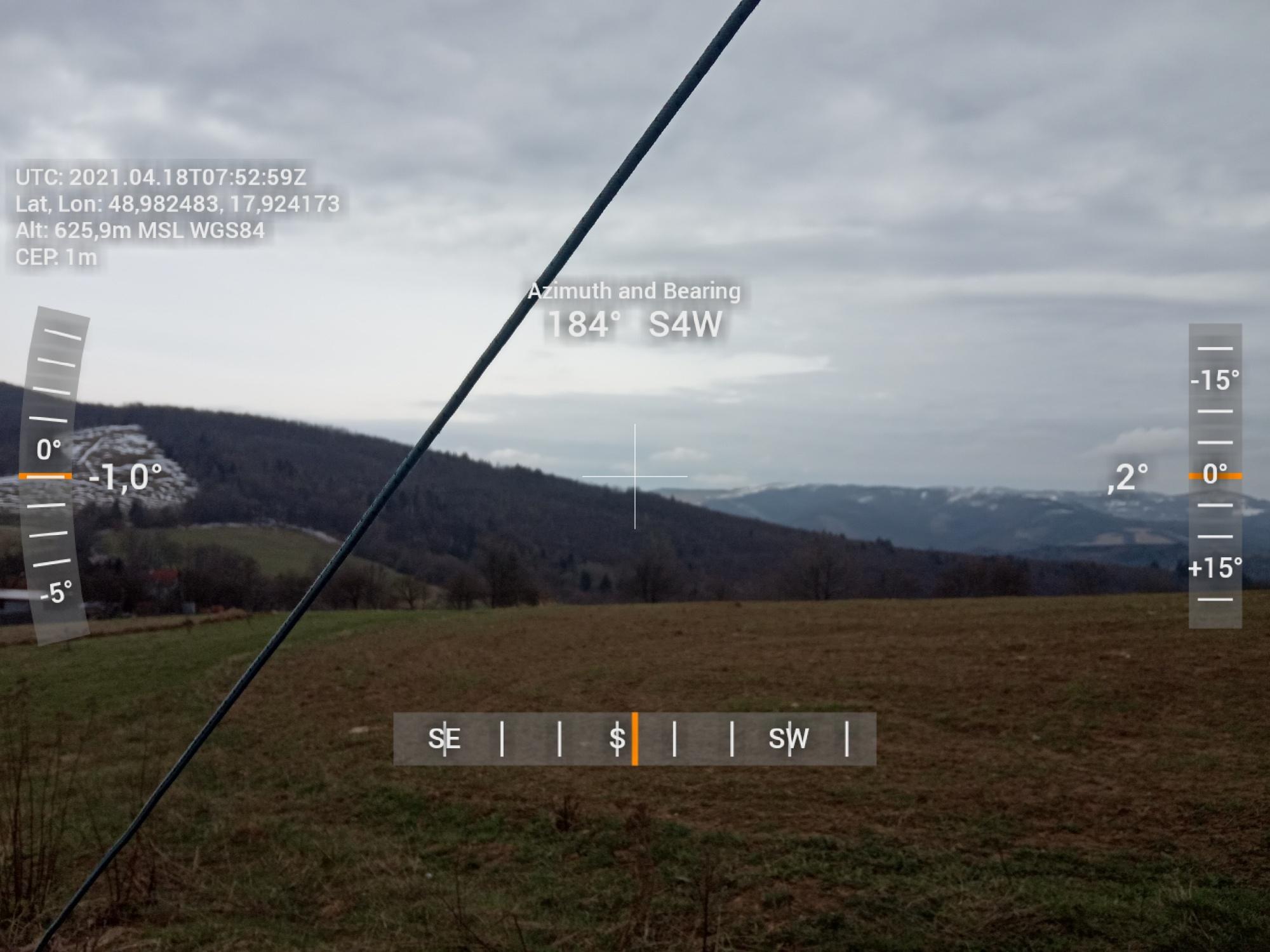 Výhľad z JN88XX na juh