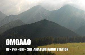 Pôvodný QSL lístok OM0AAO