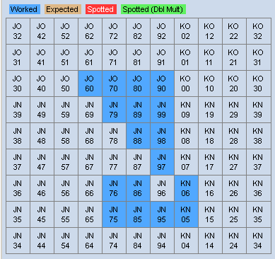 Map of locator squares