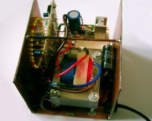Pohľad do kontroléra zo strany transformátora